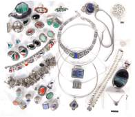 MOSTLY STERLING SILVER VINTAGE JEWELRY