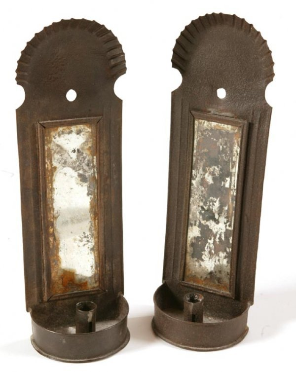 10: PAIR OF CANDLE SCONCES.