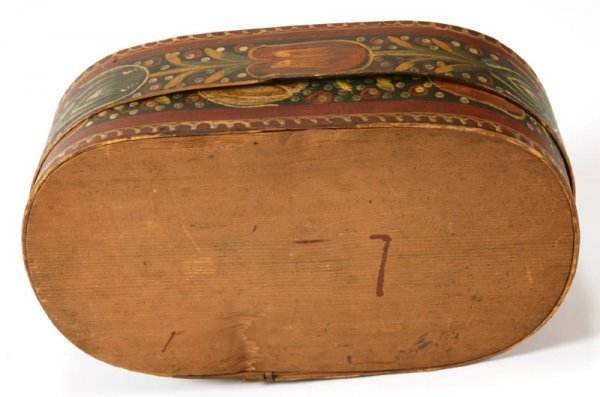 337: DECORATED BRIDE'S BOX. - 4