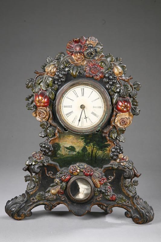 1003: MANTLE CLOCK. Signed Wil L Gilbert- Winchester, C