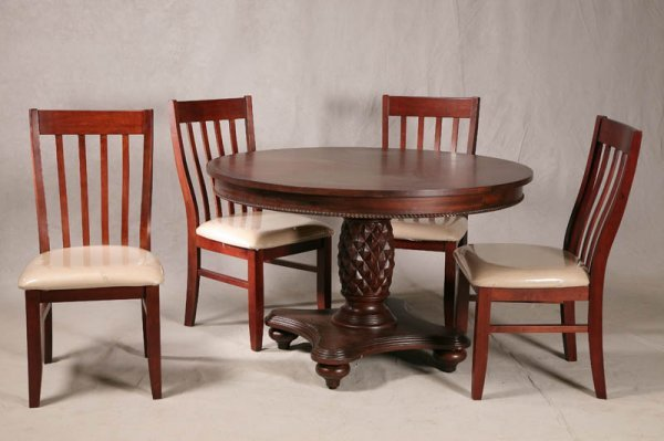 1287: DINING ROOM SET. Contemporary pineapple pedestal