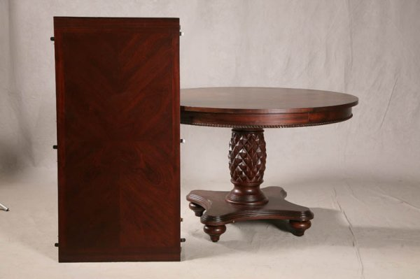 1287: DINING ROOM SET. Contemporary pineapple pedestal  - 2