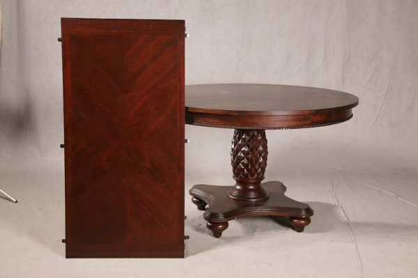 1287: DINING ROOM SET. Contemporary pineapple pedestal  - 3