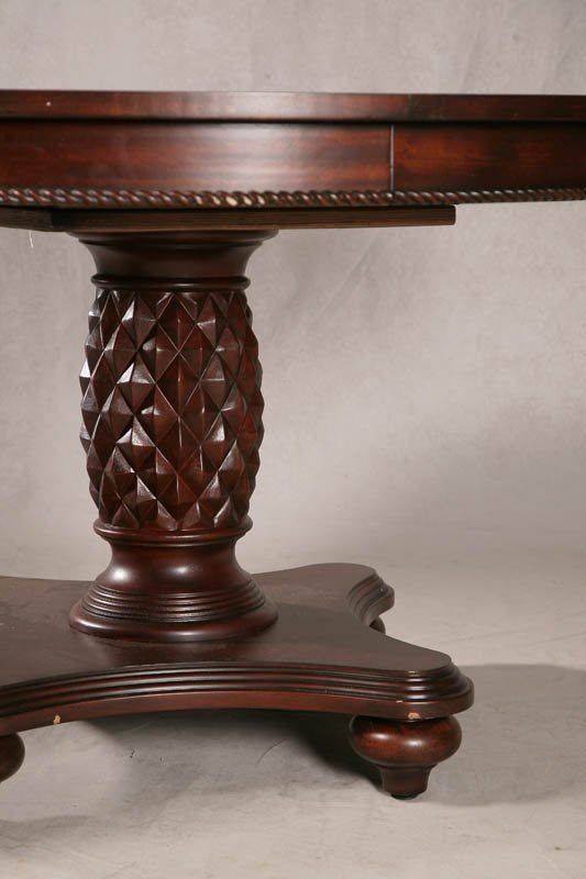 1287: DINING ROOM SET. Contemporary pineapple pedestal  - 4