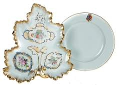 FOUR CHINA SERVING PIECES.