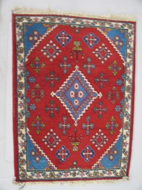 451: ORIENTAL MAT. Persian Mayneh with ivory border, me