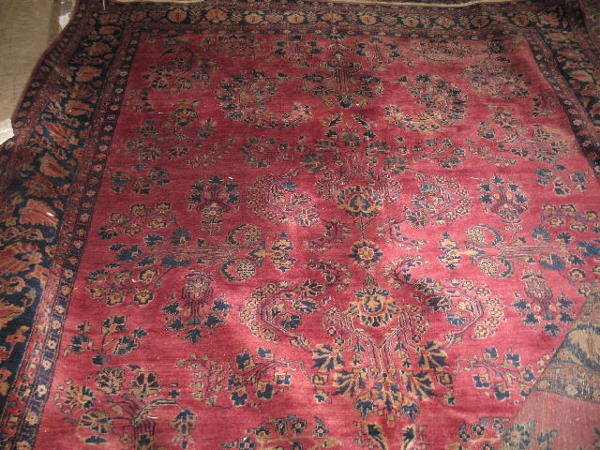 502: ORIENTAL RUG. Room size Sarouk. Floral with midnig