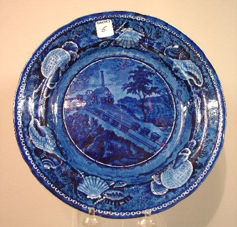 "5: HISTORICAL BLUE STAFFORDSHIRE PLATE. ""The Baltimore"