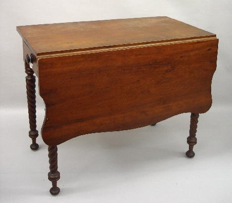 13: UNUSUAL DROP LEAF TABLE. Attributed to Kentucky. Ch