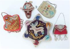 SEVEN PIECES OF IROQUOIS NIAGARA BEADWORK