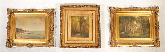 THREE PAINTINGS BY JEANNETTE AGNEW LYON