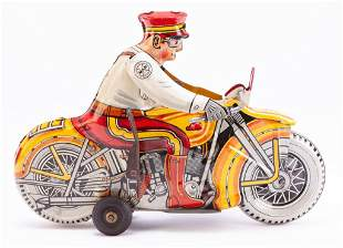 "MARX ""ROOKIE COP"" LITHOGRAPH WIND UP TOY."