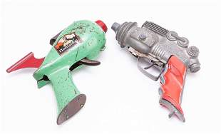 TWO TOY SPACE-AGE PISTOLS INCLUDING ONE HUBLEY.