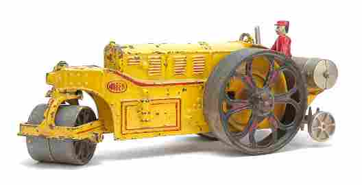 "HUBLEY CAST IRON 15"" HUBER ROAD ROLLER."