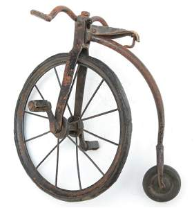 MINIATURE SALESMAN SAMPLE OF PENNY FARTHING BICYCLE