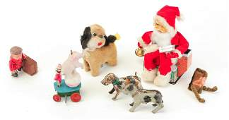 GROUP OF SEVEN VARIOUS WINDUP TOYS