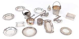 GROUP OF STERLING NOVELTY PIECES.