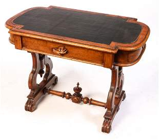 AMERICAN VICTORIAN LIBRARY TABLE.