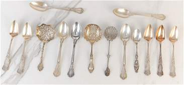 FOURTEEN PIECES OF AMERICAN STERLING