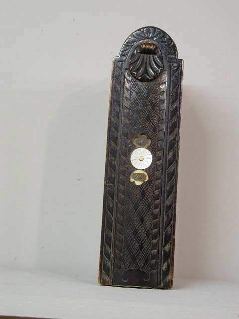 6: PENNSYLVANIA CANDLE BOX. Carved curly mapl