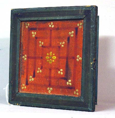 7: DECORATED GAMEBOARD. Small hinged example