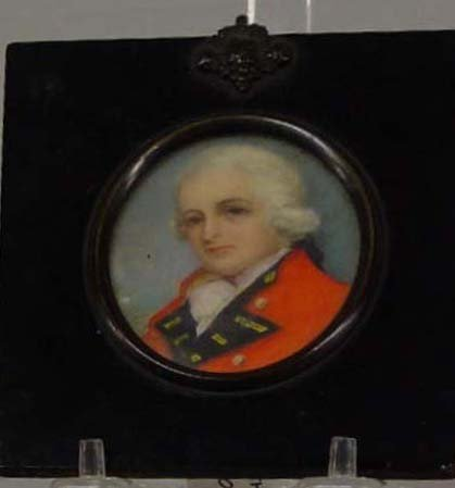 10: MINIATURE ON IVORY. Portrait of a young s