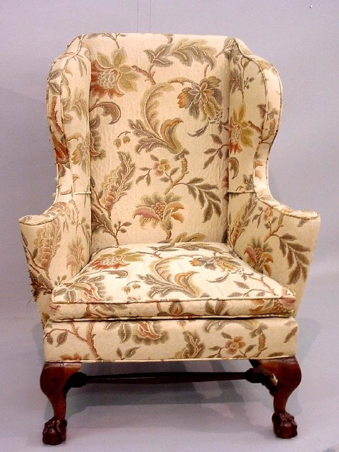 21: CHIPPENDALE WING CHAIR. Possibly Rhode Is