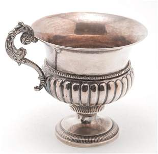 FRENCH SILVER SUGAR BOWL.
