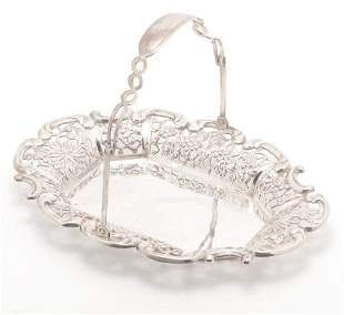 CHINESE EXPORT STERLING BASKET.