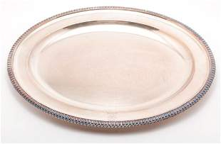 ENGLISH SILVER PLATE TRAY BY ELKINGTON.