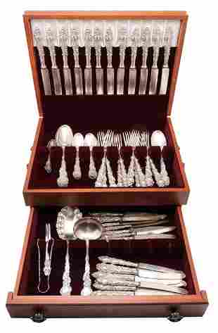 ROGERS COLUMBIA PATTERN SILVERPLATE FLATWARE.