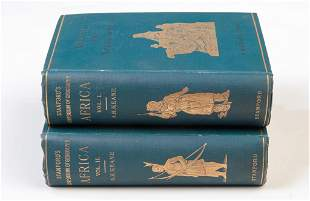 AFRICA BY A.H. KEANE, TWO VOLUME SET, 1895.