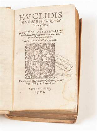 AN EARLY EDITION OF EUCLID'S ELEMENTS. 1571.