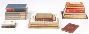 GROUP OF BOOKS ON ILLUMINATED MANUSCRIPTS.