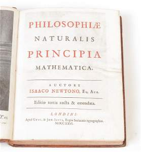 NEWTON'S PHILOSOPHIAE NATURALIS PRINCIPIA  . . .