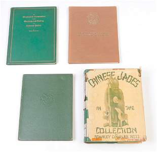 FOUR BOOKS INCLUDING CHINESE JADE BY NOTT.