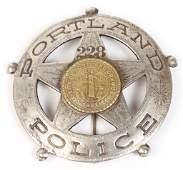 PORTLAND OREGON POLICE BADGE