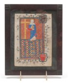 ST. HELENA FROM ENGLISH BOOK OF HOURS.