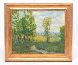 SUMMER LANDSCAPE BY CHARLES WILLIAM DUVALL.