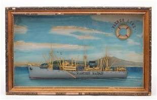 AMERICAN SHIP DIORAMA.