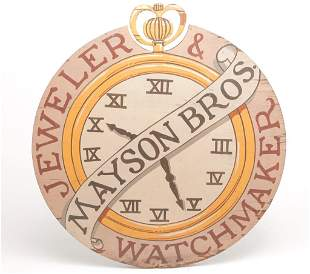 """AMERICAN """"MAYSON BROTHERS"""" JEWELRY TRADE SIGN."""