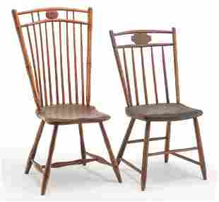 TWO AMERICAN WINDSOR CHAIRS.