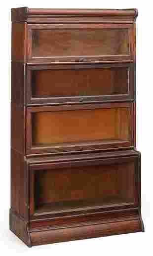 "AMERICAN ""HUMPHREY WIDMAN"" STACKING BOOKCASE."