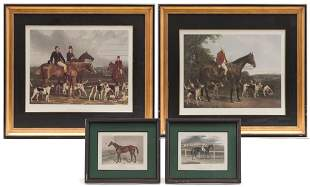 FOUR AMERICAN CONTEMPORARY HORSE PRINTS.