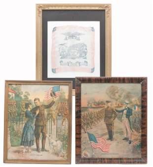 THREE AMERICAN WWI ITEMS.