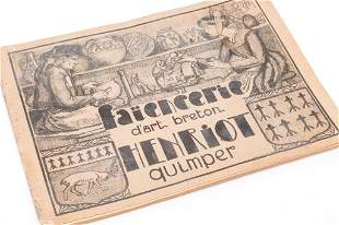 1930s FRENCH QUIMPER CATALOGUE.