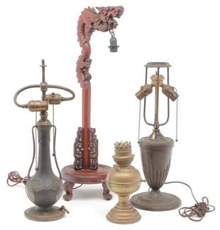 FOUR LAMP BASES.