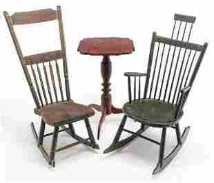 THREE PIECES AMERICAN COUNTRY FURNITURE.