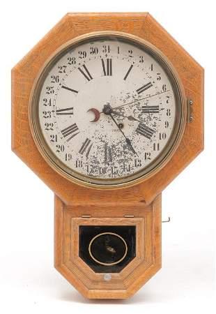 AMERICAN SETH THOMAS CALENDAR WALL CLOCK.