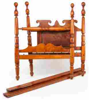 AMERICAN TRANSITIONAL FOUR POSTER BED.